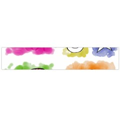 A Set Of Watercolour Icons Flano Scarf (large)