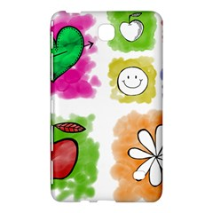 A Set Of Watercolour Icons Samsung Galaxy Tab 4 (7 ) Hardshell Case