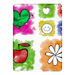 A Set Of Watercolour Icons Samsung Galaxy Tab S (10 5 ) Hardshell Case