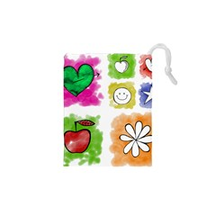 A Set Of Watercolour Icons Drawstring Pouches (xs)