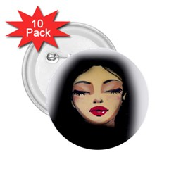 Girl 2.25  Buttons (10 pack)