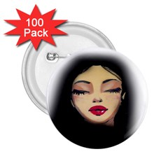 Girl 2.25  Buttons (100 pack)