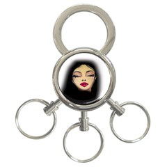 Girl 3-Ring Key Chains