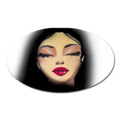 Girl Oval Magnet