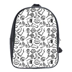 Body parts School Bags(Large)