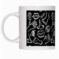 Body parts White Mugs