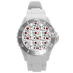 Body parts Round Plastic Sport Watch (L)