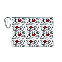 Body parts Canvas Cosmetic Bag (M)