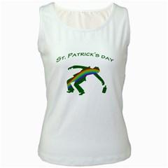 St. Patricks Women s White Tank Top