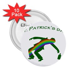 St. Patricks 2.25  Buttons (10 pack)