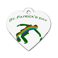 St. Patricks Dog Tag Heart (Two Sides)