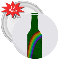 St  Patricks 3  Buttons (10 Pack)
