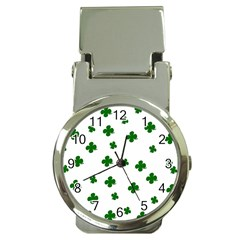 St. Patrick s clover pattern Money Clip Watches