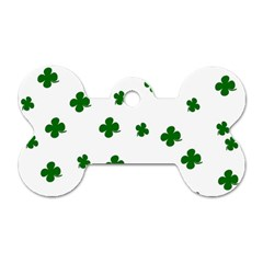 St. Patrick s clover pattern Dog Tag Bone (Two Sides)