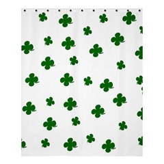 St. Patrick s clover pattern Shower Curtain 60  x 72  (Medium)