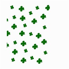 St. Patrick s clover pattern Small Garden Flag (Two Sides)