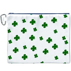 St. Patrick s clover pattern Canvas Cosmetic Bag (XXXL)