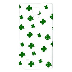 St. Patrick s clover pattern Galaxy Note 4 Back Case