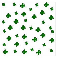 St. Patrick s clover pattern Large Satin Scarf (Square)