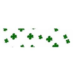 St. Patrick s clover pattern Satin Scarf (Oblong)