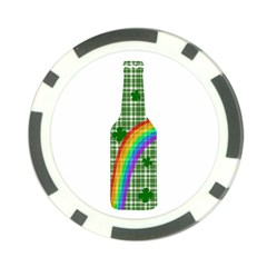 St. Patricks day - Bottle Poker Chip Card Guard (10 pack)