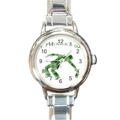 St. Patrick s day Round Italian Charm Watch