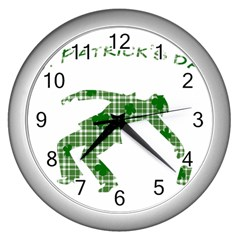 St. Patrick s day Wall Clocks (Silver)