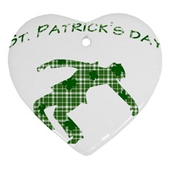 St. Patrick s day Heart Ornament (Two Sides)