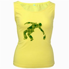 St. Patrick s day Women s Yellow Tank Top