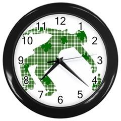 St. Patrick s day Wall Clocks (Black)