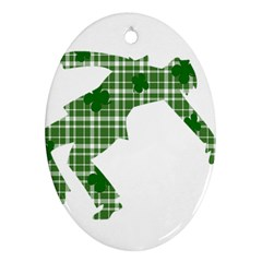 St. Patrick s day Oval Ornament (Two Sides)