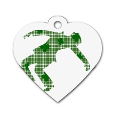 St. Patrick s day Dog Tag Heart (Two Sides)