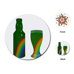 St. Patrick s day Playing Cards (Round)