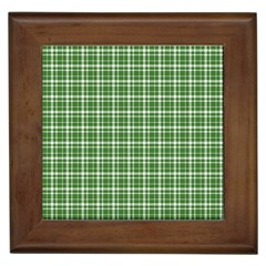 St. Patricks day plaid pattern Framed Tiles