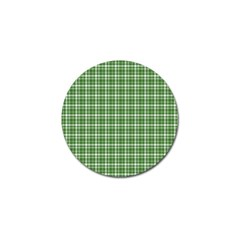 St. Patricks day plaid pattern Golf Ball Marker