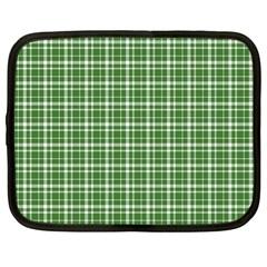 St. Patricks day plaid pattern Netbook Case (Large)