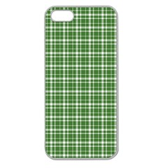 St. Patricks day plaid pattern Apple Seamless iPhone 5 Case (Clear)