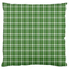 St  Patricks Day Plaid Pattern Large Flano Cushion Case (two Sides)