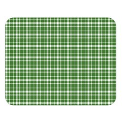 St  Patricks Day Plaid Pattern Double Sided Flano Blanket (large)