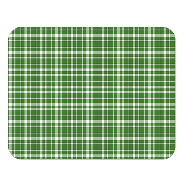 St. Patricks day plaid pattern Double Sided Flano Blanket (Large)