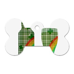 St. Patrick s day Dog Tag Bone (One Side)