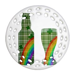 St. Patrick s day Round Filigree Ornament (Two Sides)