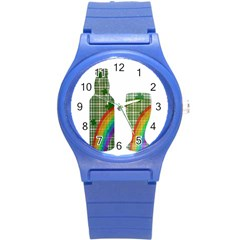 St. Patrick s day Round Plastic Sport Watch (S)