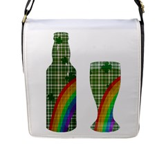 St. Patrick s day Flap Messenger Bag (L)