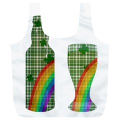 St. Patrick s day Full Print Recycle Bags (L)
