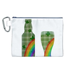 St. Patrick s day Canvas Cosmetic Bag (L)