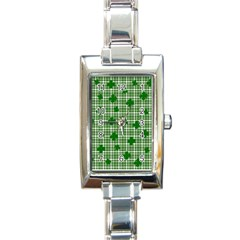 St. Patrick s day pattern Rectangle Italian Charm Watch