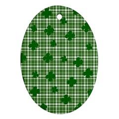 St. Patrick s day pattern Ornament (Oval)