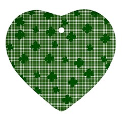 St. Patrick s day pattern Ornament (Heart)