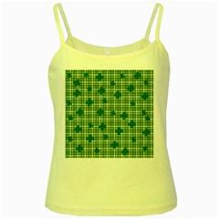 St. Patrick s day pattern Yellow Spaghetti Tank